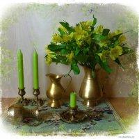 Альстромерия, кувшины и свечи :: Nina Yudicheva