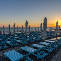 вечерний пляж, Адлер :: Алексей Лейба