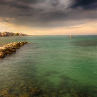 Небо и вода местечка Катерини, Греция :: Максим Кравченко