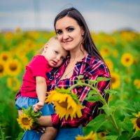 Мама и дочь в подсолнухах :: Марина Алексеева