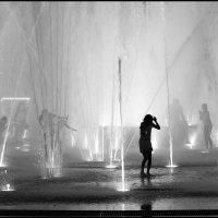 Ночные фонтаны. Хабаровск :: Татьяна Петрова