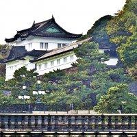 Башня Fushimi-yagura и каменный мост Meganebashi Императорского дворца Токио :: Swetlana V