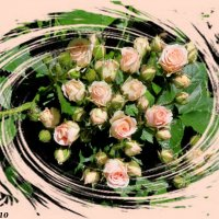 Букетик роз, вскруживший голову... :: Нина Бутко