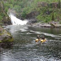 Водопад Маманя, река Кутсайоки. :: Юрий Колчин