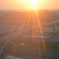 Заход солнца над Адлером :: Сергей Тимоновский
