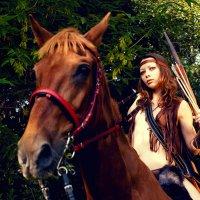 Скво и конь :: Сергей Великанов