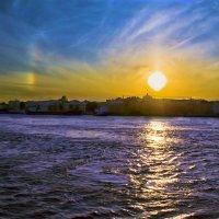Закат над Васильевским островом :: Валентин Яруллин