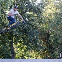 Трюк на велосипеде :: Леонид Никитин