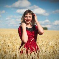 Девушка в поле с пшеницей :: Валерий Подобный