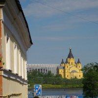 Вид на Стрелку (Нижний Новгород) :: Павел Зюзин