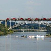 Два моста и пристань. :: Михаил Полыгалов