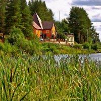 Дом у озера :: Анжела Пасечник