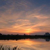 закатное небо над озером :: Александр Прокудин