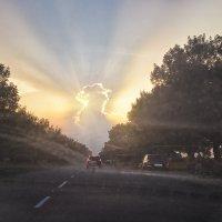 вид из машины закат :: Юлия Коноваленко (Останина)