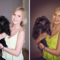 Дама с собачкой :: Zhanna Abramova
