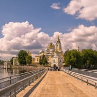 Дорога к Храму, Селигер, Ни́ло-Столобе́нская пу́стынь :: Владимир Демчишин