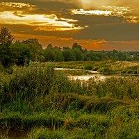 Вечер на пруду :: Юрий Мельник