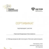 Сертификат :: Владимир Павлов