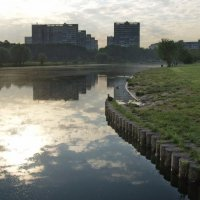 Ивановское со стороны пруда утром :: Анна Воробьева