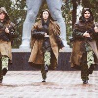Почетный караул в дождливый день :: Леонид Никитин