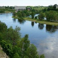 Река Нарва (Нарова)  и Нарвская ГЭС :: Елена Павлова (Смолова)