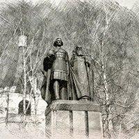 Памятник основателям Нижнего Новгорода :: Андрей Головкин