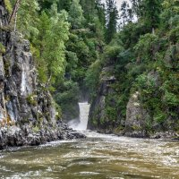 Водопад на Телецком :: Сергей Бордюков