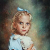 Девочка с котенком :: Анна Бугаева