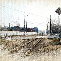 Переезды, переходы, светофоры и убегающие вперед стальные версты... :: Андрей Головкин