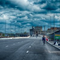 Питер въезд на новый виадук у площади Александра Невского :: Юрий Плеханов
