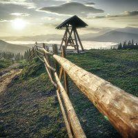 Волшебное утро в горах.. :: Елена Данько