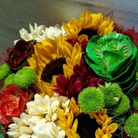 Букетик с декоративными капустами :: Galina Belugina