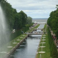 Морской канал с аллеей фонтанов :: марина ковшова