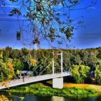 Оренбург. пешеходный мост через реку Урал :: Денис Садчиков