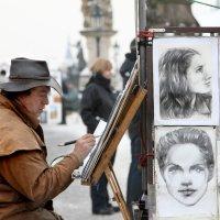 Прага. Уличный художник. :: nakip1
