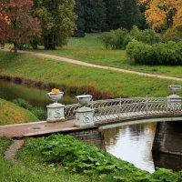 Чугунный мост...Осени краски :: Ирина Румянцева