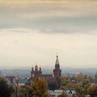 А за храмом туман... :: Алексей Батькович