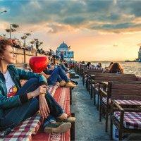 Встреча заката с видом на Девичью башню :: Ирина Лепнёва