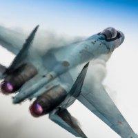Cу-35 Сквозь горячий выхлоп двигателей :: Дмитрий Бубер