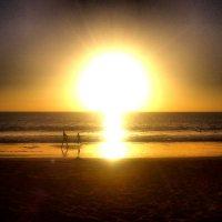 дети, океан, закат :: Ольга Богачёва