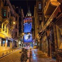 Галатская башня ночью :: Ирина Лепнёва