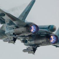 """Железный такой """"утёнок"""", по небу, такой летит... Су-34 с комплектом вооружения. :: Дмитрий Бубер"""
