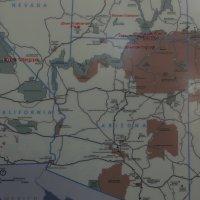 Карта нашего тура по штатам Невада, Юта, Аризона (США) :: Юрий Поляков