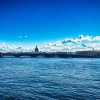Питер вид на мост Лейтенанта Шмидта :: Юрий Плеханов
