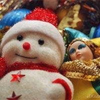 Снеговик и Арлекин. :: Елена Kазак