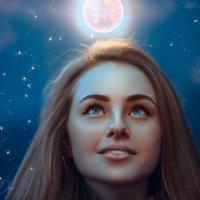 Девушка с луной :: Дина Агеева
