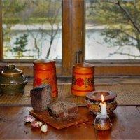 У окна с видом на речку :: Сергей Чиняев