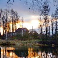 Рассвет на озере. :: Aleksandr Ivanov67 Иванов
