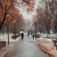 Бродила Осень по аллее, под ручку с верным Ноябрём О чём то, о своем жалея, тихонько плакала дождём. :: ALISA LISA