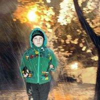 Дождь,темно,горит фонарь... :: Александр Мартынов